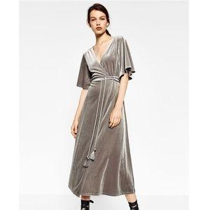 Zara Trafaluc Midi Wrap Dress M